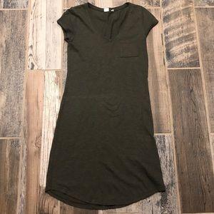GAP Green T-shirt Dress with Pocket Sz XS
